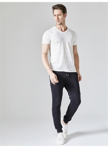 Xint XINT %100 Pamuk Skinny Fit Sweat Pantolon Siyah